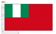 Nigeria Civil Red Ensign Courtesy Boat Flags (Roped and Toggled)